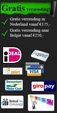 Wij accepteren deze betaalmethoden