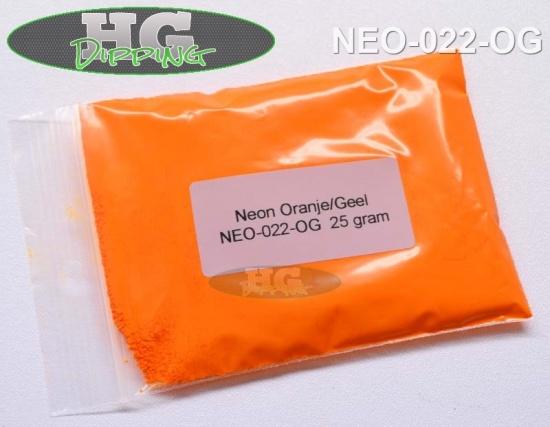 Neon Oranje/ Geel. Fluoriserende verf!