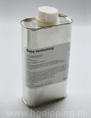 Base verdunner. (Kleurcode)