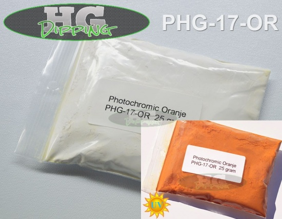 Photo Oranje! UV licht veranderende poeder