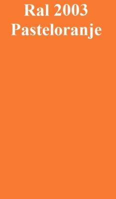 Basecoat lak Ral 2003 Pastel oranje