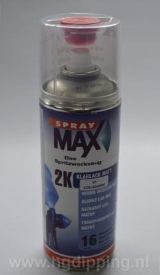 SprayMax 2k blanke lak mat