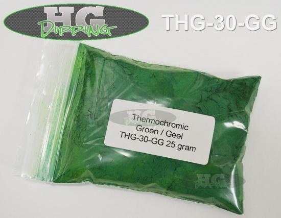 Dubbel Thermo Groen>Geel Hitte veranderende poeder