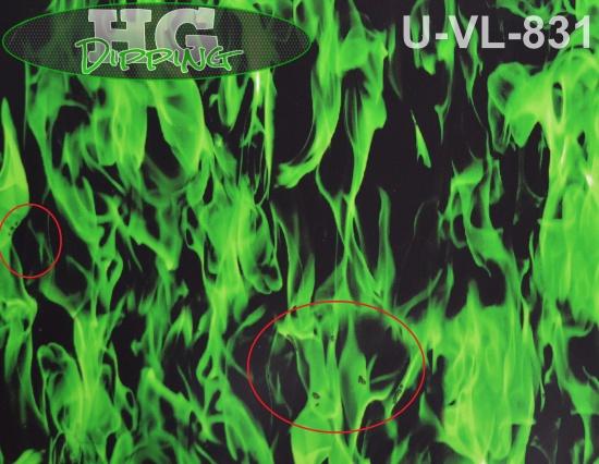 Vlammen Groen 3 meter! U-VL-831